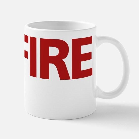 firerescue_text_dark_red Mug