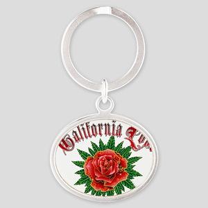 California love Oval Keychain