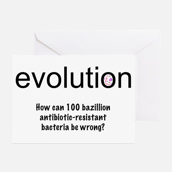 Evolution - bacteria Greeting Cards (Pk of 10)