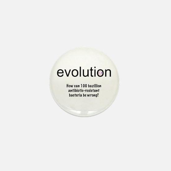 Evolution - bacteria Mini Button