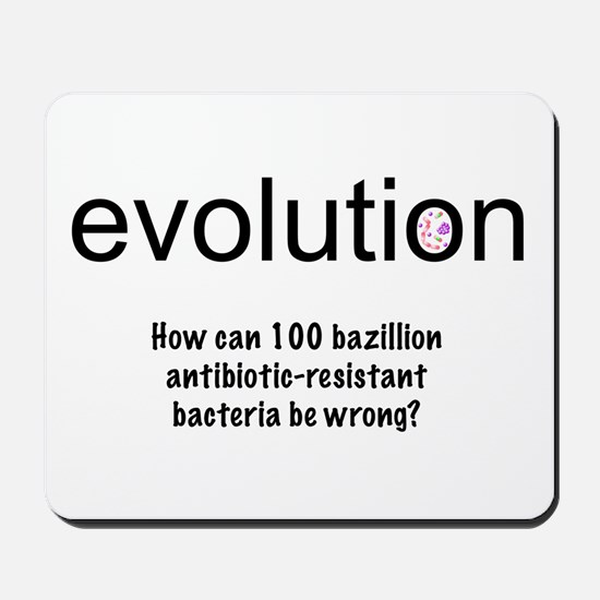 Evolution - bacteria Mousepad