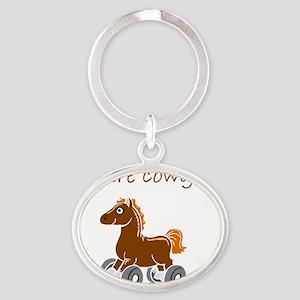 future cowgirl Oval Keychain