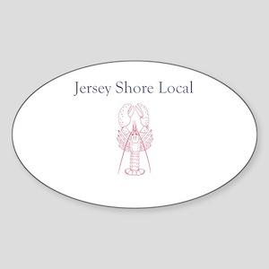 Jersey Shore Local Oval Sticker