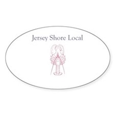 Jersey Shore Local Oval Sticker