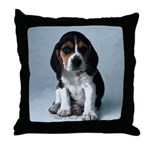 Adorable Basset Hound Puppy Throw Pillow