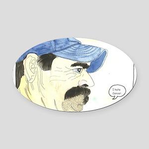 Cr. I hate cancer Oval Car Magnet