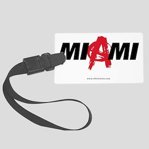 miami-anarchy-white Large Luggage Tag