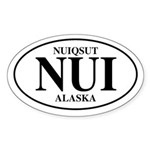 Nuiqsut Oval Sticker