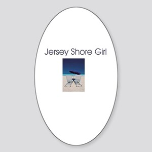 Jersey Shore Girl Oval Sticker