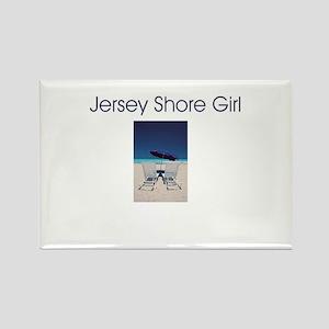 Jersey Shore Girl Rectangle Magnet