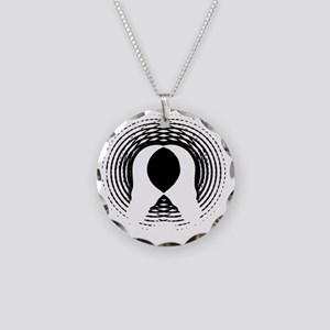 1984 - George Orwell Necklace Circle Charm