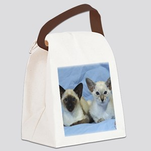 Siamese Cat 9W055D-100 Canvas Lunch Bag