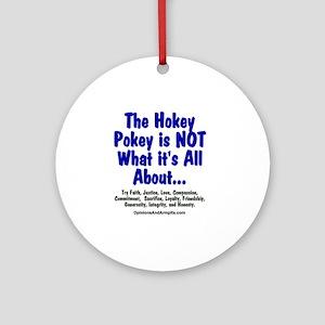 HokeyPokeyBlack Round Ornament