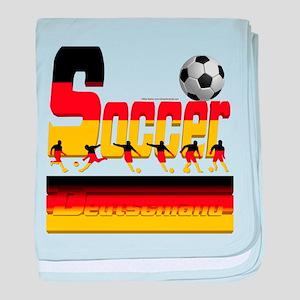 Bold Soccer German baby blanket