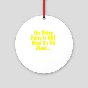 HokeyPokeyWhite Round Ornament