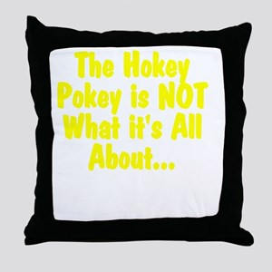 HokeyPokeyWhite Throw Pillow