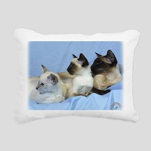 Siamese Cat 9W055D-074 Rectangular Canvas Pillow