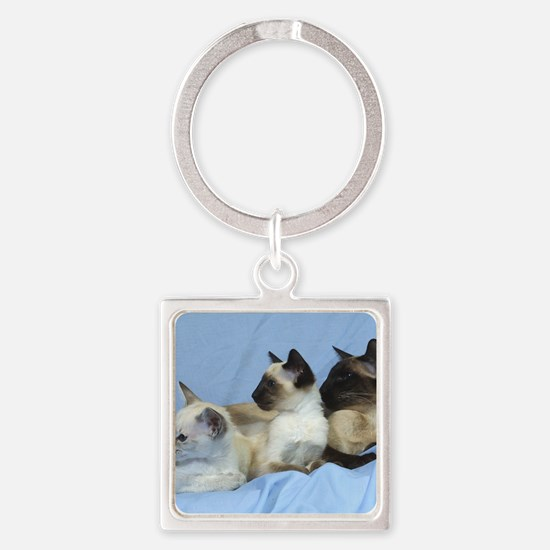 Siamese Cat 9W055D-074 Square Keychain