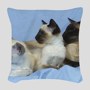 Siamese Cat 9W055D-074 Woven Throw Pillow