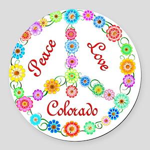 colorado Round Car Magnet