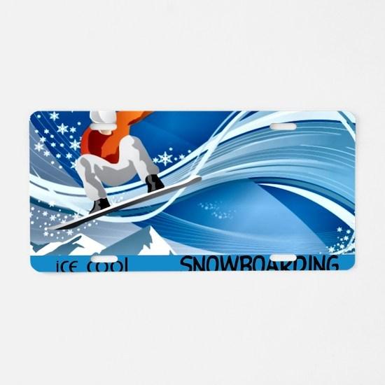 Snowboarding2 Aluminum License Plate