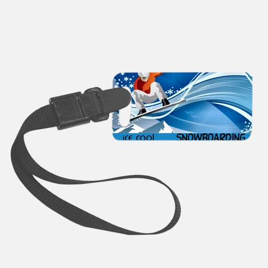 Snowboarding2 Luggage Tag