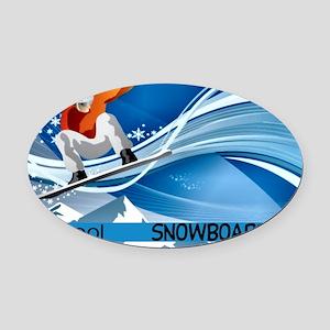 Snowboarding2 Oval Car Magnet