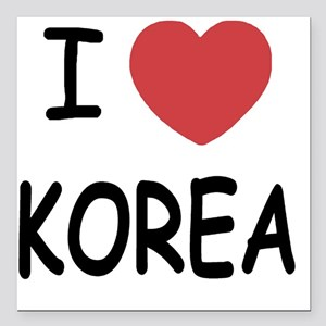 "KOREA Square Car Magnet 3"" x 3"""