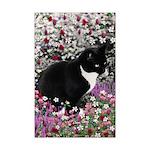 Freckles Tux Cat Flowers II Mini Poster Print