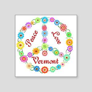 """vermont Square Sticker 3"""" x 3"""""""