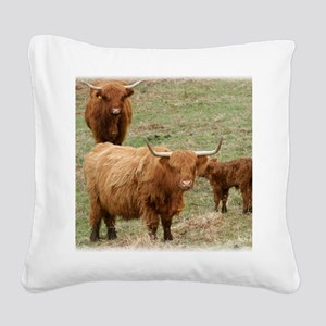 Highland Cattle 9Y316D-017 Square Canvas Pillow