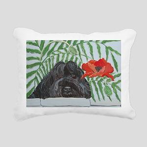Ruby Red 4x6 Rectangular Canvas Pillow