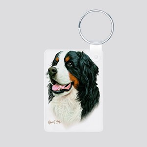 Bernese Aluminum Photo Keychain