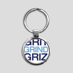 gritgrindgriz Round Keychain