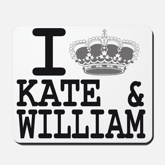 KATE and WILL CROWN Mousepad