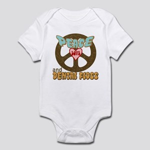 Peace Love and Dental Floss Infant Bodysuit