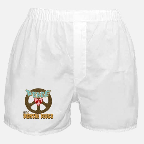 Peace Love and Dental Floss Boxer Shorts