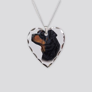 Rottweiler 3 Necklace Heart Charm