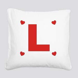 Love  Hearts 2 Square Canvas Pillow