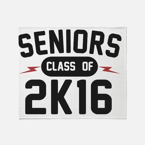 seniors-2K16-blk Throw Blanket