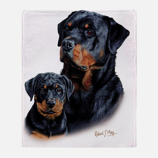 Rottweiler  Pup Throw Blanket