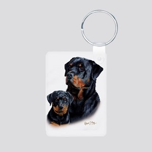 Rottweiler  Pup Aluminum Photo Keychain