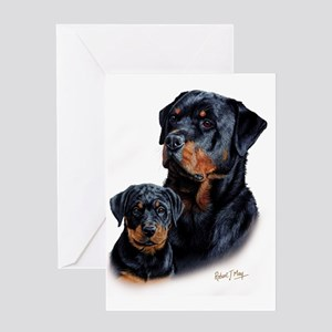 Rottweiler  Pup Greeting Card