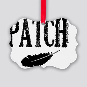 patch with feather trans Picture Ornament