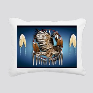 Wall Peel Flying Hawk Rectangular Canvas Pillow