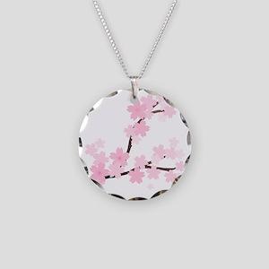 Sakura Necklace Circle Charm
