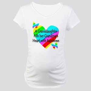 #1 GRANDDAUGHTER Maternity T-Shirt