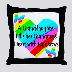 #1 GRANDDAUGHTER Throw Pillow