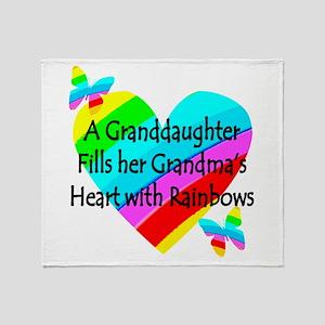 #1 GRANDDAUGHTER Throw Blanket