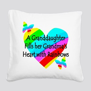 #1 GRANDDAUGHTER Square Canvas Pillow